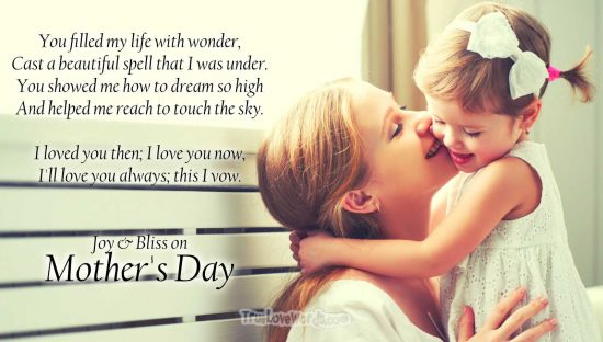 Joy and Bliss - Mother's Day messages