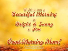 good morning messages for mom