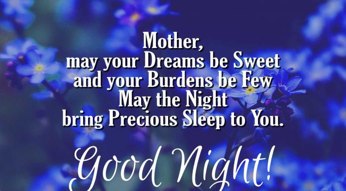 Good night messages for mom