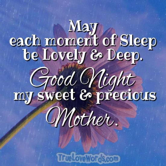 Sweet good night messages for mom