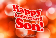 Happy anniversary wishes for son