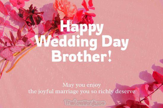 Happy Wedding Day Brother