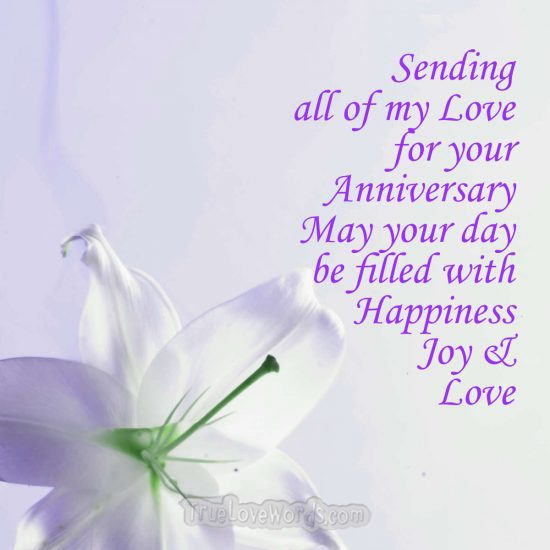 Sending my love for your day - anniversary wishes for son